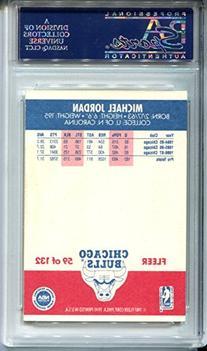 Michael Jordan 1987 Fleer Autographed AUTO Basketball Card #