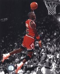 Michael Jordan 1990 Spotlight Action Photo 8 x 10in