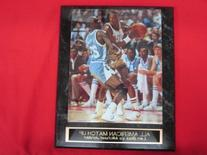 Michael Jordan vs Len Bias Engraved Collector Plaque w/8x10