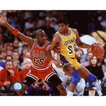 Michael Jordan & Magic Johnson - 1990 Action Glossy
