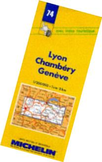 Michelin Lyon/Chambery/Geneve , France Map No. 74