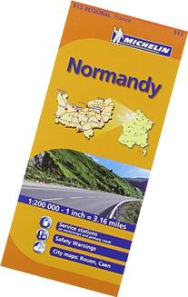 Michelin Map France: Normandy 513