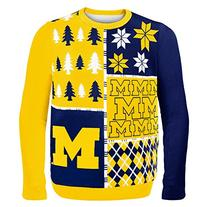 Klew NCAA Busy Block Sweater - Large - Michigan Wolverines