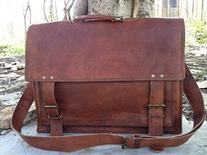 HandMadeCart  18 Inch Michigan Mens Leather Briefcase  18