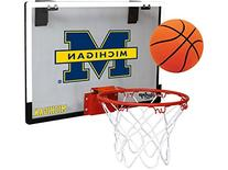 Michigan Wolverines Game On Basketball Hoop Set
