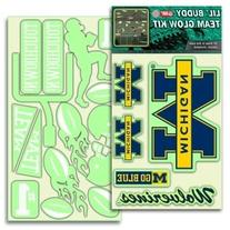 Michigan Wolverines Lil' Buddy Glow In The Dark Decal Kit