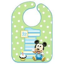 Mickey's 1st Birthday Baby Bib