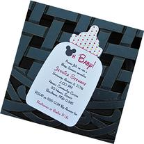 Set of 10 Mickey Mouse Bottle Shaped Baby Shower Invitations