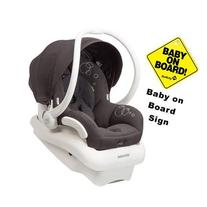 Maxi-Cosi Mico AP Infant Car Seat w Baby on Board Sign -