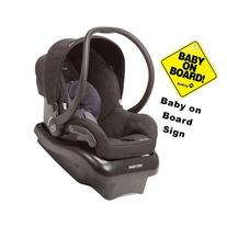 Maxi-Cosi Mico Nxt Infant Car Seat w Baby on Board Sign -