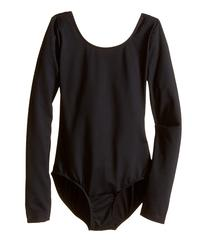 Bloch Kids - Microlux Long Sleeve Leotard   Girl's Jumpsuit