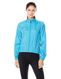 Canari Cyclewear Women's Microlyte Shell Jacket, Fiji Blue,