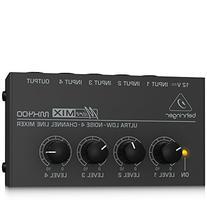 Behringer MicroMIX MX400 Low-Noise 4-channel Line Mixer,