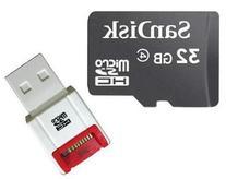 SanDisk 32GB 32G microSD microSDHC SD SDHC Card Class 4 BULK