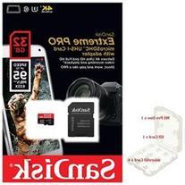 SanDisk 32GB microSD Extreme Pro 95MB/s UHS U3 4K C10 32G microSDHC micro SD SDHC Card SDSDQXP-032G + Memory Case