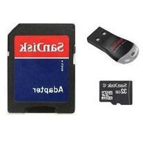 SanDisk 32GB MicroSDHC Micro SD Card with MicroSD to SD