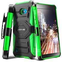 Evocel Dual Layer Holster Case with Kickstand and Belt