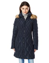 Jessica Simpson Women's Mid-Length Diamond Quilted Down Coat