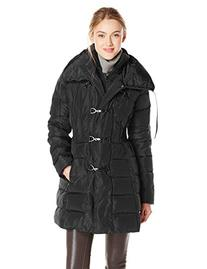 Jessica Simpson Women's Mid-Length Down Coat with Clasp