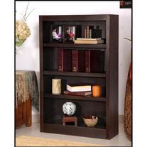 "Midas Four Shelf Bookcase 48""H Medium Oak Finish"