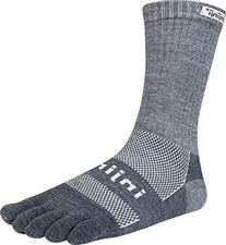 Injinji Outdoor Midweight Nuwool Crew Socks Charcoal/Black,