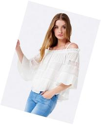 Mika Lace Off Shoulder Frill Blouse