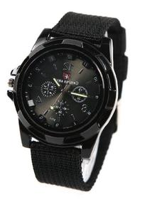 Sport Style Military Army Pilot Fabric Strap Sports Men