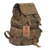 Kattee Military Style Canvas DSLR Camera Backpack Rucksack