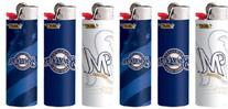 6pc Full Size Set BIC Milwaukee Brewers MLB Officially
