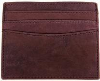 LEABAGS Milwaukee genuine buffalo leather card holder in