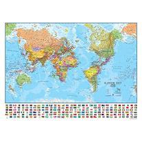 Maps International MILWLD130 World 1 to 30 Laminated Wall