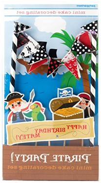 Party Partners Design Mini Cake Decor Kit, Pirate Party