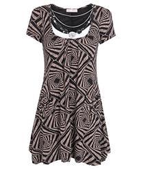 KRISP Womens Crinkle Mini Tunic Dress Short Sleave With