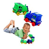 Toy Cubby Kids Mini Pull Back Trains - 12 pieces