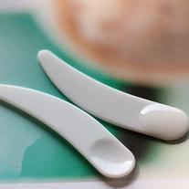 100pcs Mini Cosmetic Spatula Scoop Disposable White/cosmetic