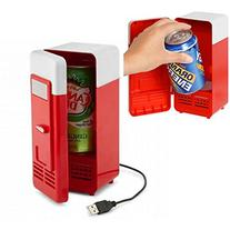 Mini USB Fridge Cooler Beverage Drink Cans Cooler/warmer