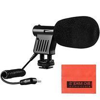 Mini Zoom Video Camera Shotgun Microphone For Canon Vixia