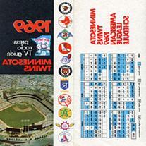 Minnesota Twins Unsigned 1969 American League Squedule