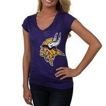 Ladies' Minnesota Vikings Women's Burnout V-Neck T-Shirt