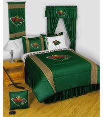 NHL Minnesota Wild 5pc Bed in a Bag Queen Bedding Set