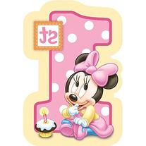 Baby Minnie Mouse 1st Birthday Invitations 8 Pkg Disney