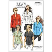 Vogue Pattern Misses' and Misses' Petite Shirt, AA