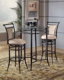 Mix N Match 3 Piece Pub Table Set w/ Cierra Stools Fawn