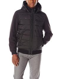 Tommy Hilfiger Men's Mixed-Media Puffer Jacket,XX-Large,