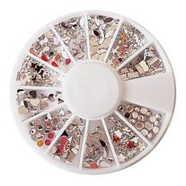 EVERMARKET Mixed-pattern Acryl Diamond Wheel Nail Art