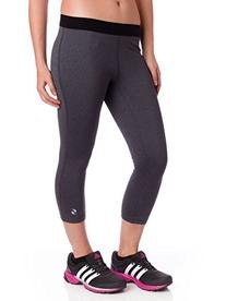 Soffe Juniors Dri Capri, Gray Heather/Black, Small