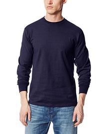 MJ Soffe Men's Long-Sleeve Cotton T-Shirt, Navy, Medium
