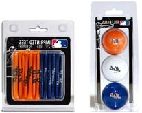 MLB New York Mets 3 Ball/50 Tee Pack, Orange