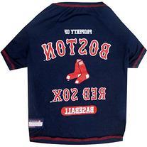 Pets First MLB Boston Red Sox Dog Tee Shirt, Medium