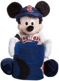 MLB Boston Red Sox Mickey Mouse Pillow with Fleece Throw